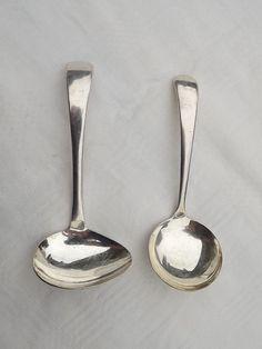 Plated Ladles Sheffield EL Crown SP England Cream Side Pour Silverplate Lot of 2 #Sheffield #Sheffield