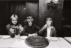 Sting et le groupe Police, Bar des Théatres, Avenue Montaigne, Paris, le 8 janvier 1982 © Bruno Mouron