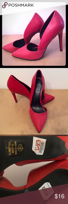 Beautiful Red stiletto heels NWOT BEAUTIFUL Charlotte Russe red stiletto heels. This is a reposh because it fits me a little big. Then if your foot is a little wide or you are looking for shoes not so tight, these are perfect. Charlotte Russe Shoes Heels