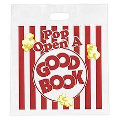 Pop Open a Good Book Economy Book Bags