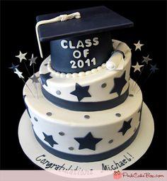 Stars Graduation Cap Cake