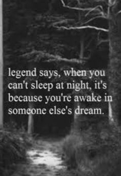 Legends of the Fall............but is it a good dream?