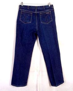 high waist dark wash straight leg denim 28 x 31 vintage 50s jeans