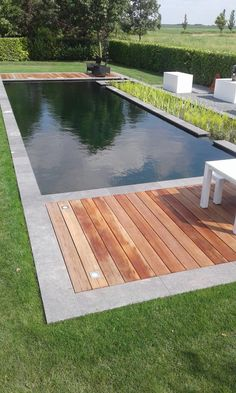 Garden Pond Design, Backyard Pool Designs, Small Backyard Pools, Small Pools, Swimming Pool Landscaping, Swimming Pool Designs, Backyard Landscaping, Natural Swimming Ponds, Natural Pond