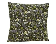 Heart Leaf Cushion,green, cotton canvas,made in Britain