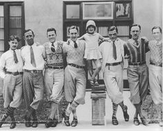 1930s: knickerbockers for cycling, argyles, neckties, relaxed collars. Possibly college or golf.