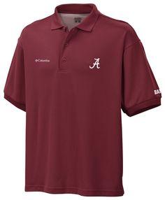 Mens Collegiate Perfect Cast Polo Football Alabama Crimson Size M NWT #Columbia #AlabamaCrimsonTide