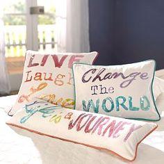Pillows, Accent Pillows & Decorator Pillows   PBteen