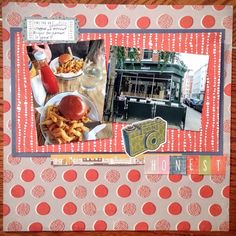 Cook Scrap Craft: Honest Burgers Scrapbook Page