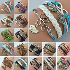 Hot Sale Womens Fashion Bracelet Bangles Vintage Anchors Rudder Rectangle Leather Bracelet Multilayer Bracelets Hot Bracelets US $0.78 - 1.30