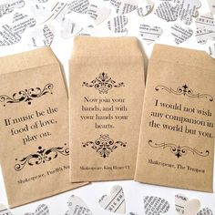 shakespeare book confetti by literary emporium | notonthehighstreet.com - might be good favor bags?