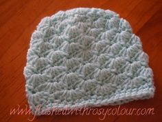 Flushed with Rosy Colour: Tiny Shells Premmie Beanie, free pattern