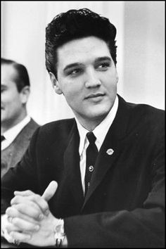 Elvis at the Tennessee Capitol building in Nashville in March 1961.