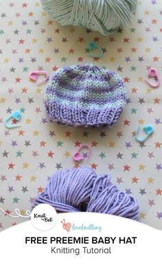 Knit by Bit: free preemie baby hat knitting pattern on LoveKnitting