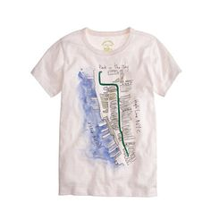 Kids' crewcuts for High Line watercolor map tee - Garments for Good - Boy's Boy_Special_Shops - J.Crew