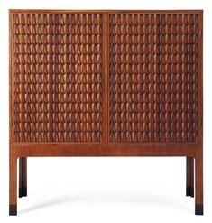 "Hans J. Wegner, ""Crocodile"" Carved Oak Cabinet, c1950."
