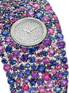 Delaneau - Montre 'Grace' - Or, Saphirs et Diamants