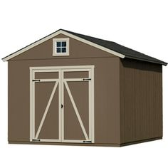 Heartland Statesman Gable Engineered Wood Storage Shed (Common: 10 Ft X 12
