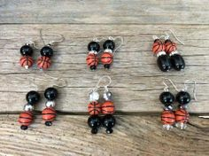 San Antonio Spurs inspired earrings