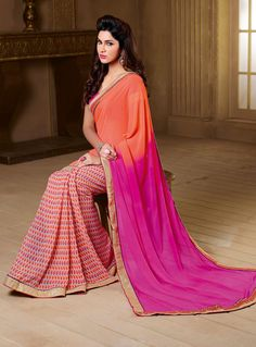 Beautiful wedding wear cotton silk designer saree with cutwork,embroidered & acrylic mirror work on the pallu. New sari in Cotton silk fabric. Fabric of the sari is strong and pure. Sari color may be a shade darker or lighter than the picture. Patiala Salwar, Anarkali, Lehenga, Ethnic Fashion, Pink Fashion, Indian Fashion, Woman Fashion, Vintage Fashion, Indian Designer Sarees
