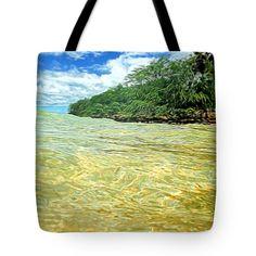 Tote Bags - Ocean Paradise Tote Bag by Pamela Walton