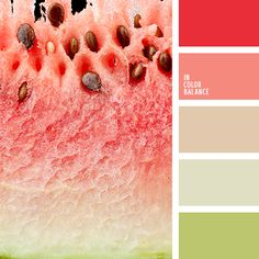 Fresh, cheerful palette using rich natural colors: red, hot pink, light pink…