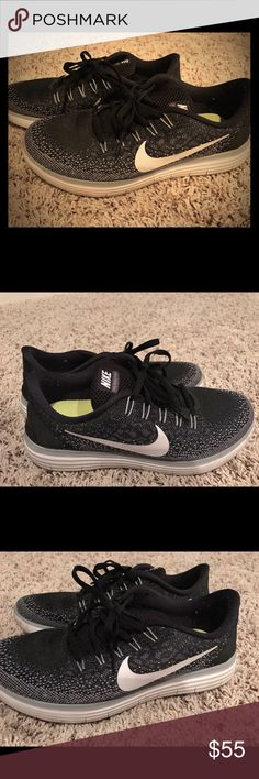 Nike Black Running Shoes They have been worn a handful of times and they don't show any major signs of wear.  No stains or tears.  Kept in smoke free environment! Nike Shoes Sneakers