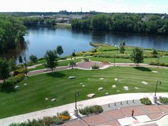 This is Phoenix Park in my hometown of Eau Claire, WI. Eau Claire has been doing a ton of work in reviving the downtown area the past 5 years. Sadly, this beautiful area was not here when I was growing up!