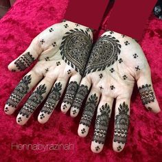 mirror style mehndi Cool Henna Designs, Beautiful Henna Designs, Arabic Mehndi Designs, Mehndi Designs For Hands, Arabic Henna, Mahdi Design, Henna Body Art, Henna Artist, Beauty Box