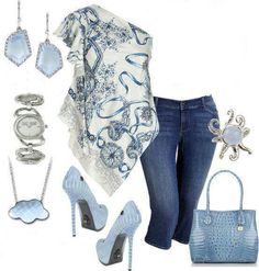 Powder puff blue_-jeans and top with sandals