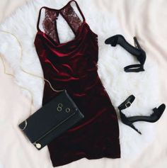 Velvet heels lace fashion inspiration