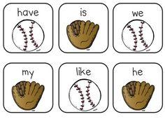 Baseball Sight Word Game FREE
