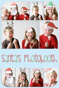 Christmas photo booth:) What a great Christmas card! Noel Christmas, Christmas Photo Cards, Christmas Pictures, Winter Christmas, All Things Christmas, Xmas, Photobooth Christmas, Funny Family Christmas Cards, Christmas Decor