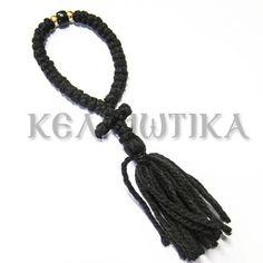 33αρι μαύρο μάλλινο κομποσχοίνι με σταυρό και φουντα http://www.kelliotika.gr/el/handicrafts/prayer-ropes/woolen/1316-detail.html 33 knot Black woolen Prayer Rope with cross and tassel http://www.kelliotika.gr/en/handicrafts-en/prayer-ropes-en/woolen-en/1316-en-detail.html