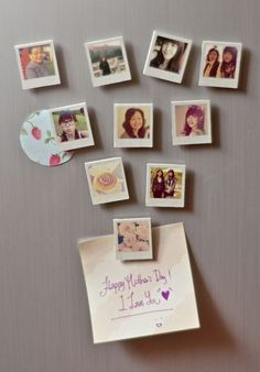 Make some tiny photo magnets. | Community Post: 21 DIY Gifts Your Mom Will Love This Mother's Day