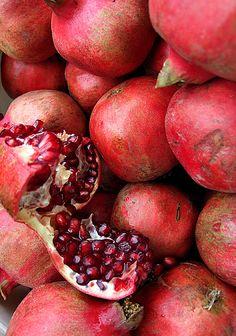 "(5) ""Pomegranates full and fine,"""