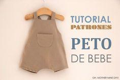 DIY Tutoriales y patrones gratis: PETO DE BEBE
