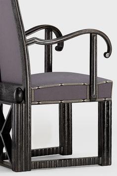 Les plus belles pieces de la TEFAF New York 2017 : Josef Hoffmann, Armchair designed for Otto Zuckerkandl (detail), circa 1912-1913 (Yves Macaux)