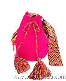 Authentic Crochet Wayuu Mochilas ~ Crossbody 11 in. H x 9 in. W~ 20 in. strap drop ~