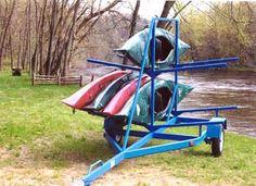 Homemade Kayak Trailer Rack Kayak Rack Kayaking