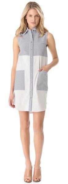 Seersucker Tunic Dress - Lyst