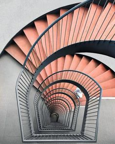 Pink and grey stairs  Design | #MichaelLouis - www.MichaelLouis.com