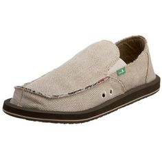Sanuk Men's Hemp Sidewalk Surfer shoes! Made from hemp, which is a better alternative to leather or rubber. It is completely animal-free! These shoes cost about $44 on amazon.