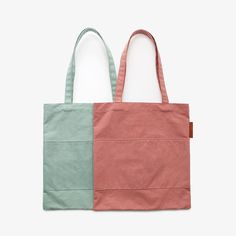 NEW! Roxie Cotton Pocket Tote, in Mint and Blush