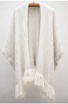 Lauren Manoogian White & Grey Ruana Coat $437