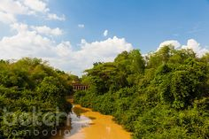 Stone bridge and lush creek in Kampong Kdey | Siem Reap Province, Cambodia