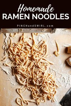 If you've wondered how to make homemade ramen noodles, you have to try this! This recipe for making ramen noodles from scratch works every time. Ramen Recipes, Cooking Recipes, Homemade Ramen Noodle Recipes, Healthy Recipes, Asian Recipes, How To Make Ramen, Paleo, Fresh Pasta, Homemade Pasta