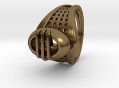 Wakefield Ring by Fluid_Designer on Shapeways. Learn more before you buy, or discover other cool products in Rings. Wakefield, 3d Printing, Rings, Leather, Stuff To Buy, Jewelry, Design, Bijoux, Ring