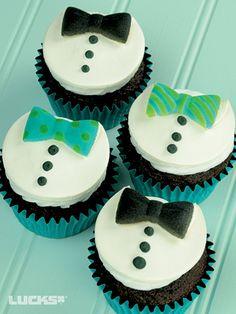 Bow Tie Cupcakes