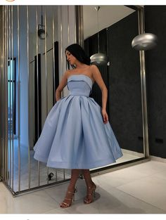 Strapless Blue Short Ball Gown Prom Wear Dresses,homecoming dresses,dresses,prom dresses ,dresses · HotProm · Online Store Powered by Storenvy Strapless Homecoming Dresses, Cute Prom Dresses, Ball Gowns Prom, Ball Dresses, Pretty Dresses, Beautiful Dresses, Evening Dresses, Prom Dresses Tea Length, Wedding Dresses